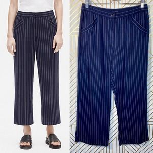 Eileen Fisher Woven Tencel Striped Wide Leg Pant